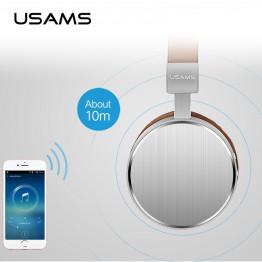 Original USAMS bluetooth headset Stereo Heavy Bass Microphone  wireless headphones for computer phones music